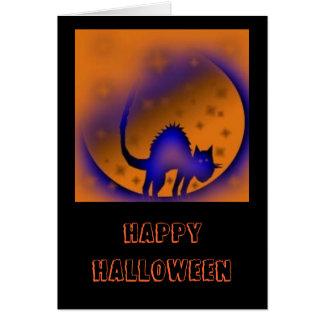 halloweencatmoon, feliz Halloween Tarjeta De Felicitación