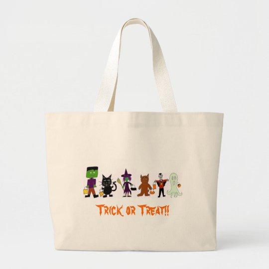 HalloweenFriends Large Tote Bag