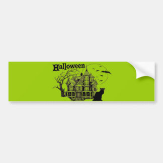HALLOWEENHUNTED  HOUSE BUMPER STICKERS