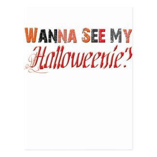 halloweenie Funny Halloween Postcard