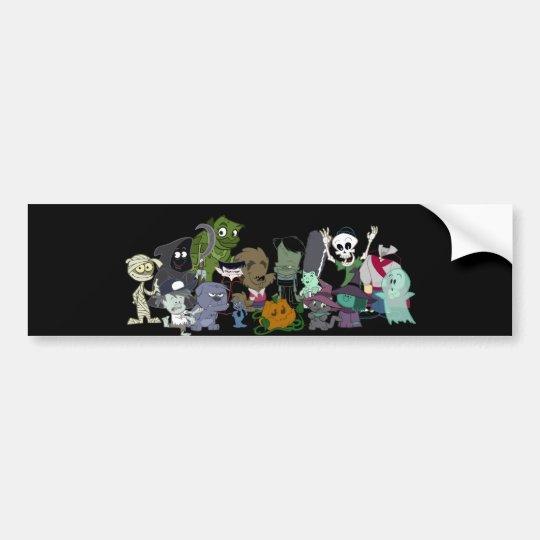 Halloweenies Group Photo Bumper Sticker