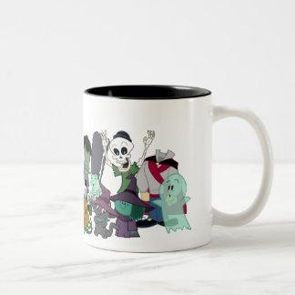 Halloweenies Group Photo Two-Tone Coffee Mug