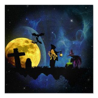 Halloweenies 5.25x5.25 Square Paper Invitation Card