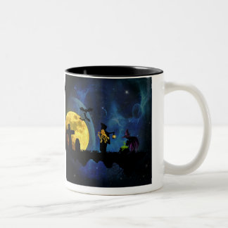 Halloweenies Two-Tone Coffee Mug