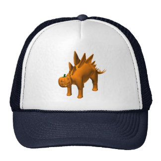 Halloweenis anaranjados del Stegosaurus Gorros Bordados