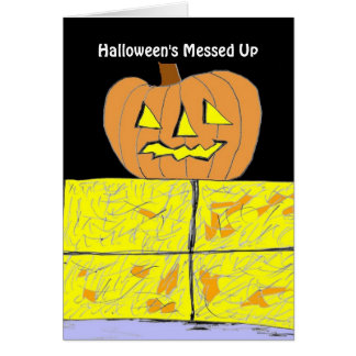 Halloween's Messed Up Stationery Note Card