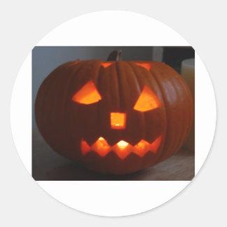 Halloweeny man classic round sticker