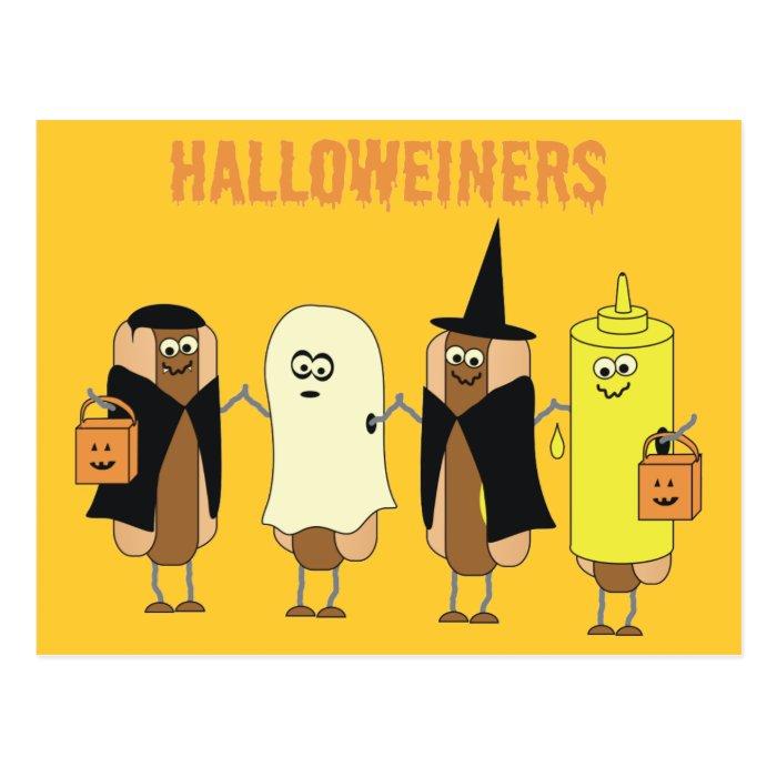 Halloweiners Postcard