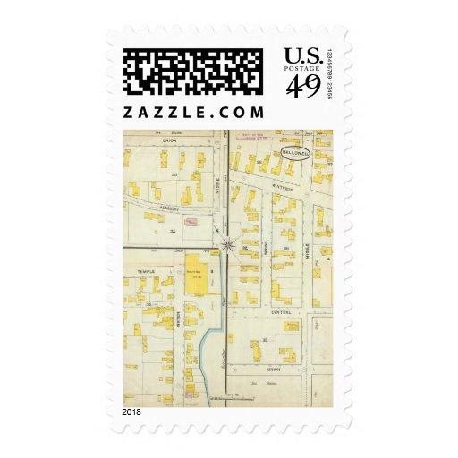 Hallowell, el condado de Kennebec, y Maine Sello Postal
