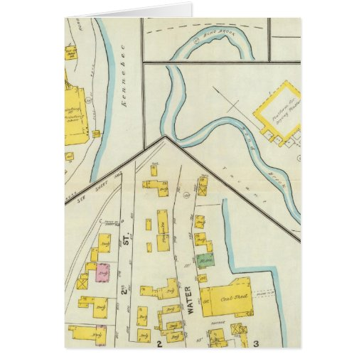 Hallowell, Kennebec County, and Maine 3 Greeting Card