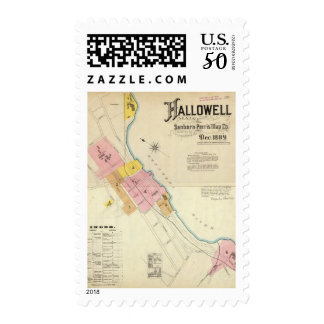 Hallowell, Kennebec County, and Maine Postage