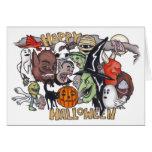 Hallowen feliz tarjetón