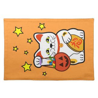 Hallowen Neko Cat Placemat