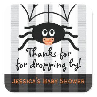 Halloween Spider Baby Shower Thank You Stickers