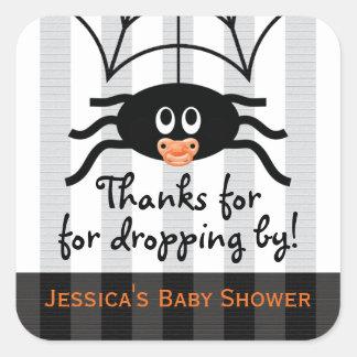 Hallowen Spider Baby Shower Thank You Stickers