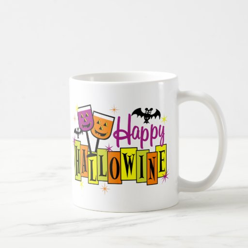 Hallowine feliz taza