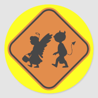 Hallowing Crossing Classic Round Sticker