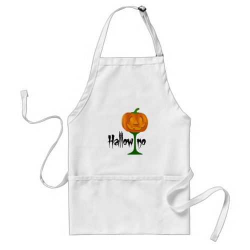 Hallowino Pumpkin Wine Glass Halloween Adult Apron