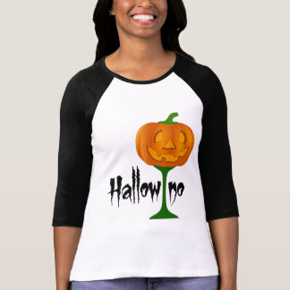 Hallowino Pumpkin Wine Glass Halloween T-Shirt