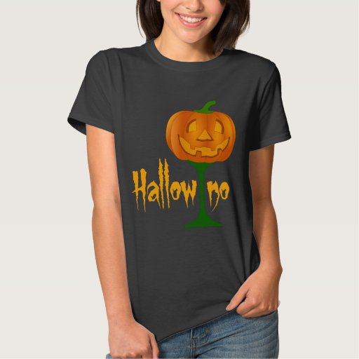 Hallowino Pumpkin Wine Glass Halloween Basic T-Shirt