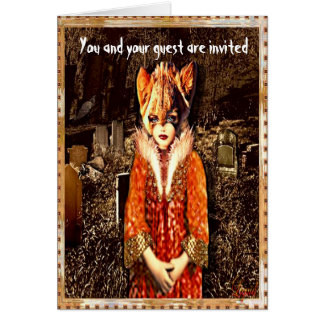 Hallow's Eve Special Halloween Folded Invite Stationery Note Card