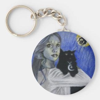 Hallow's Eve Witch Cat Keychain