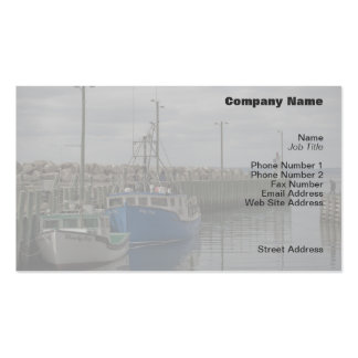 Hall's Harbour Boats Profile Card Double-Sided Standard Business Cards (Pack Of 100)