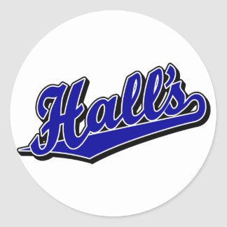 Hall's in Blue Classic Round Sticker