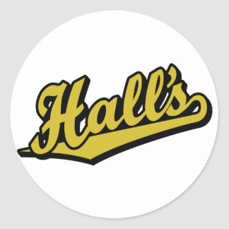 Hall's in Gold Classic Round Sticker