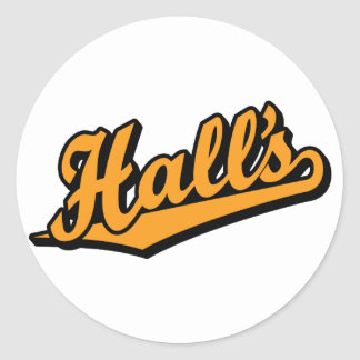 Hall's in Orange Classic Round Sticker