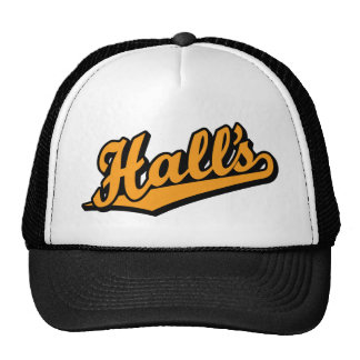 Hall's in Orange Trucker Hat
