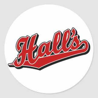 Hall's in Red Classic Round Sticker