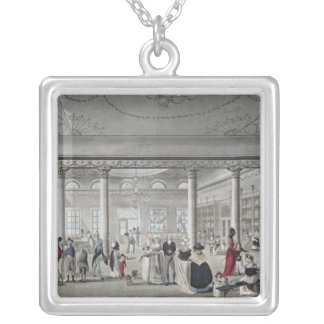 Hall's Library at Margate, 1789 Silver Plated Necklace