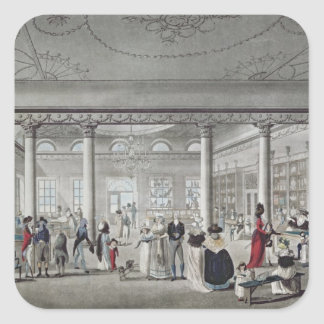Hall's Library at Margate, 1789 Square Sticker