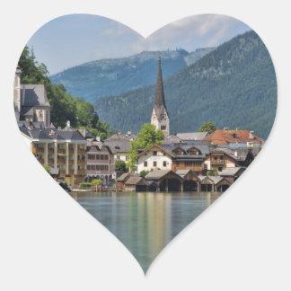 Hallstatt, Austria Heart Sticker