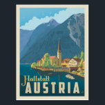 "Hallstatt, Austria Postcard<br><div class=""desc"">Anderson Design Group is an award-winning illustration and design firm in Nashville,  Tennessee. Founder Joel Anderson directs a team of talented artists to create original poster art that looks like classic vintage advertising prints from the 1920s to the 1960s.</div>"
