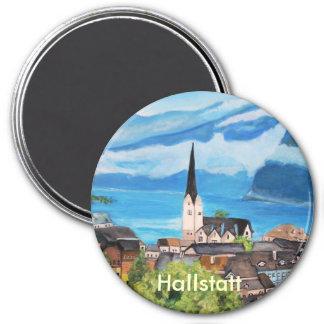 Hallstatt in Austria 3 Inch Round Magnet