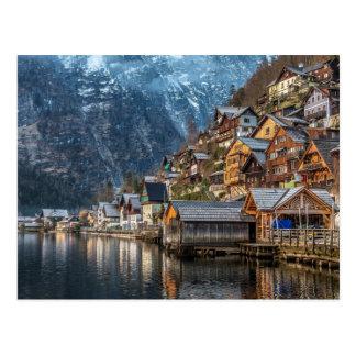 Hallstatt Village in Austria Postcard