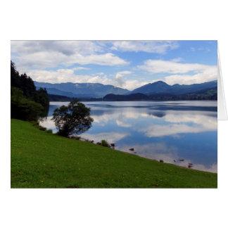 Hallstattersee lake, Alps, Austria Card