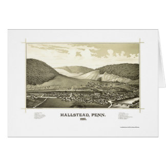 Hallstead, PA Panoramic Map - 1887 Greeting Card