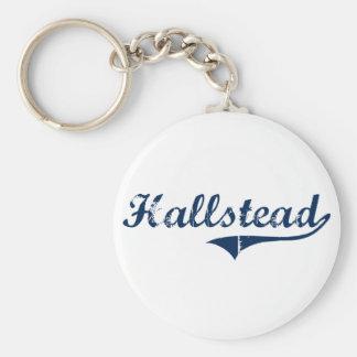 Hallstead Pennsylvania Classic Design Basic Round Button Keychain