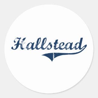 Hallstead Pennsylvania Classic Design Classic Round Sticker