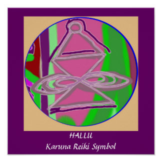 HALLU -  Karuna Reiki Healing Symbol Poster