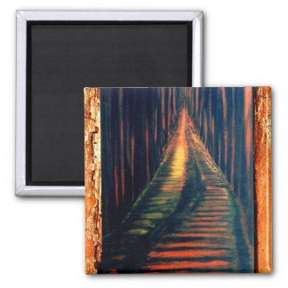 Hallway To The Executioner 2 Inch Square Magnet
