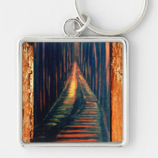 Hallway to The Executioner Silver-Colored Square Keychain