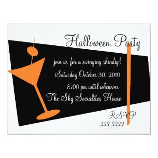 Hallween Martini Time 4.25x5.5 Paper Invitation Card