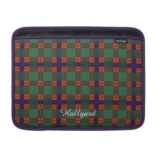 Hallyard clan Plaid Scottish kilt tartan MacBook Sleeves