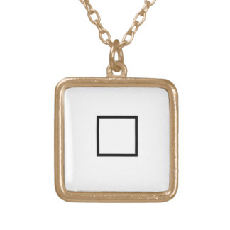 Halmos Symbol Gold Plated Necklace