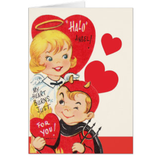 Halo Angel Vintage Valentine Card