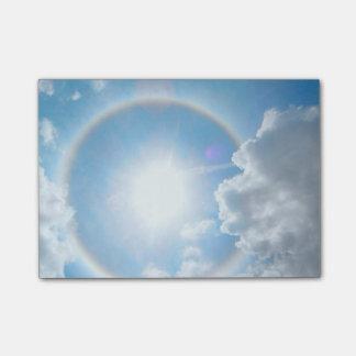 Halo del arco iris de Sun Notas Post-it